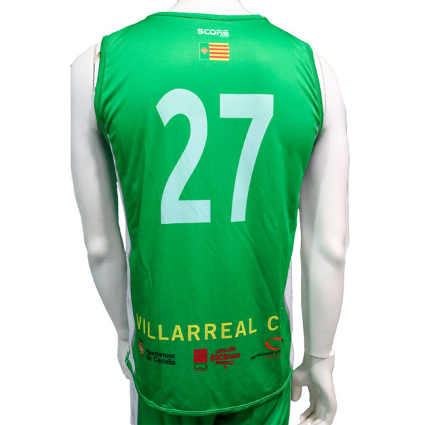 Camiseta reversible verde